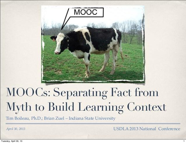 MOOCs: Fact vs. Myth