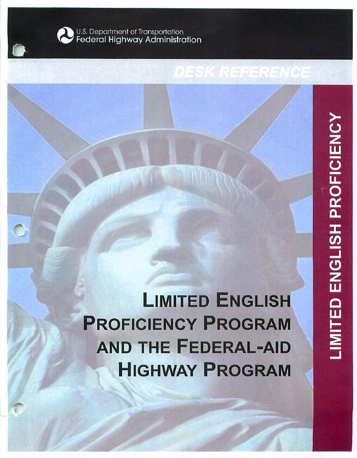USDOT FHWA LEP Desk Reference