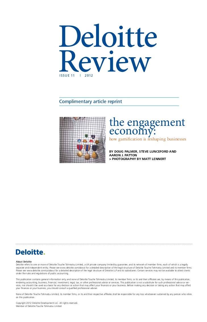 Gamification: The Engagement Economy