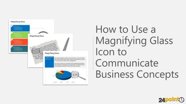 Use Magnifying Glass Icon - Editable PowerPoint Presentation