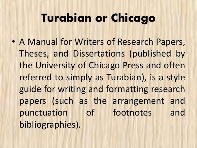 turabian bibliography thesis citation