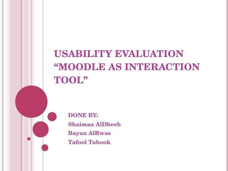 Usebility software