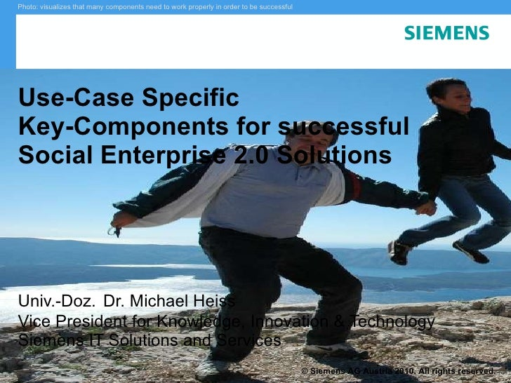 Use-Case based Key Concepts for Successful E20 Applications