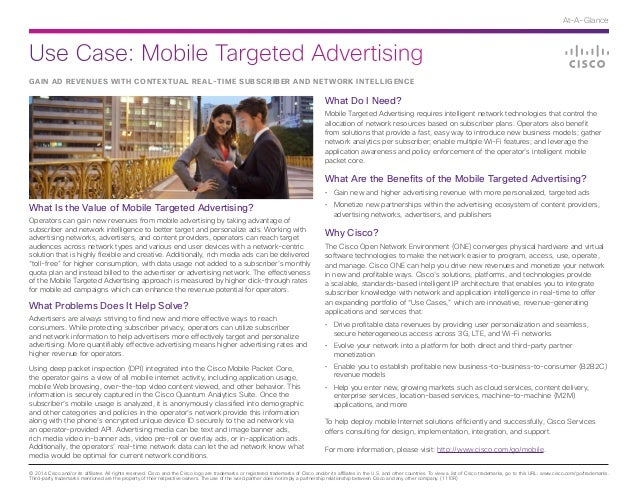 Cisco Use Case: Mobile Targeted Advertising