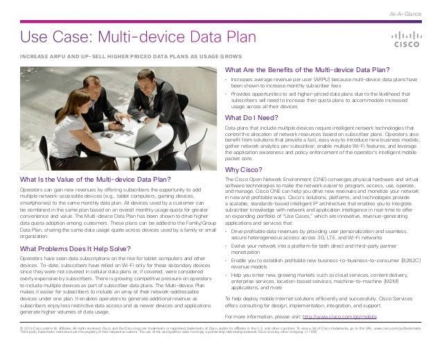 Cisco Use Case: Multi-device Data Plan