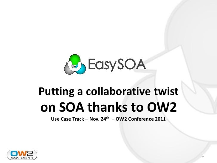 OW2con11 Use Case SOA, Nov 24-25, Paris
