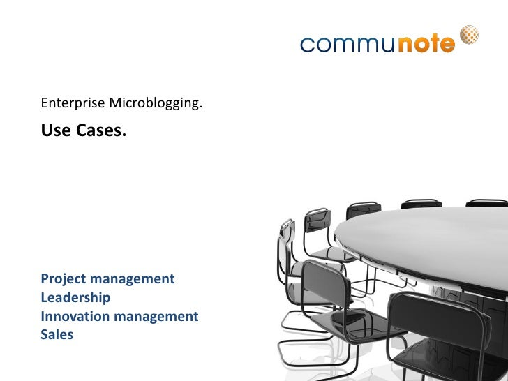 Use Cases - Communote Enterprise Microblogging (engl.)