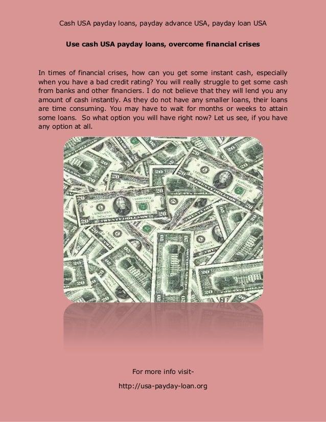 Cash USA payday loans, payday advance USA, payday loan USA        Use cash USA payday loans, overcome financial crisesIn t...