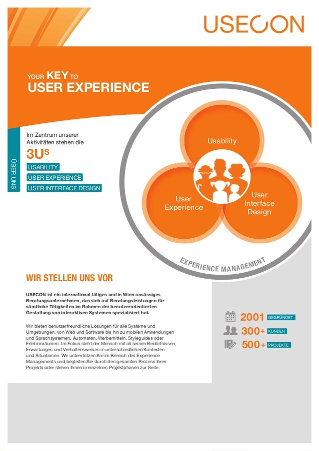 Your     Key to           User Experience           Im Zentrum unserer           Aktivitäten stehen die                   ...