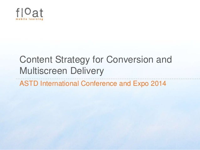 Content Strategy for Multiscreen Delivery