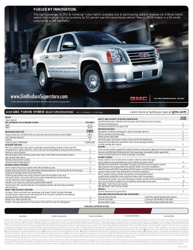 Consolidated Fulfillment Spec Sheet 08-GL-E-0055 Page 1 File Name: 2009 Yukon Hybrid CD: Giordano AD: Phil Lewis CW: Eve P...