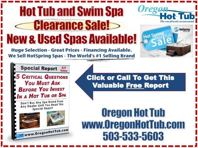 Used Hot Tubs Portland, OR ☎ 503-533-5603 ☎ Swim Spas Sale