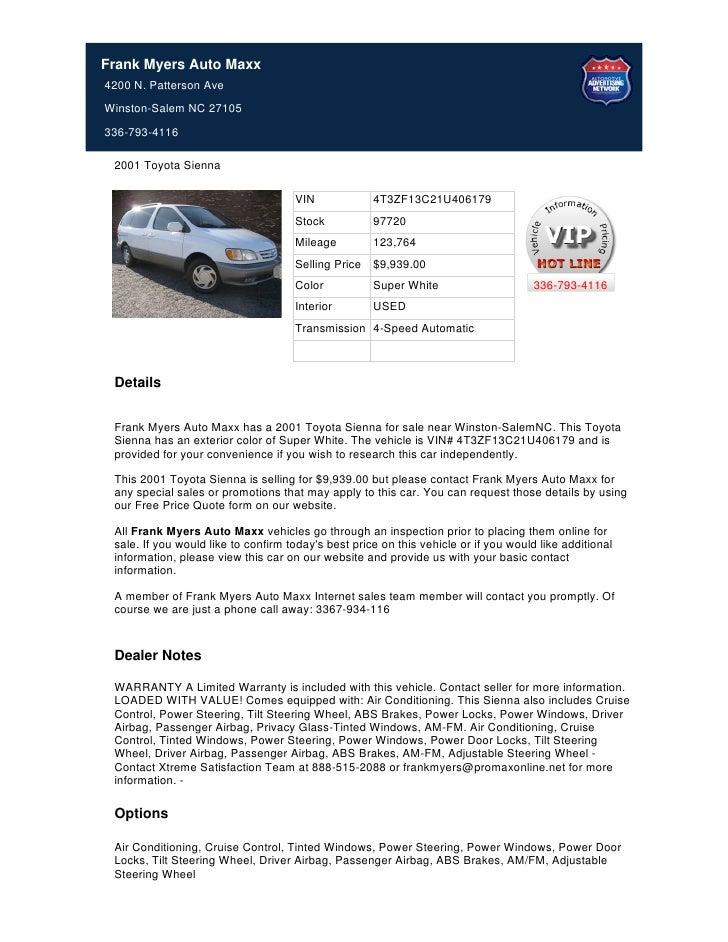 Used_2001_Toyota_Sienna_for_Sale_Near_Winston_Salem_NC_-_Stock_97720