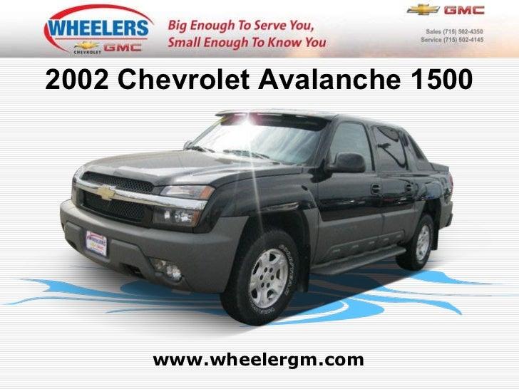 Used 2002 Chevrolet Avalanche 1500 - Wheelers of Marshfield Chevrolet Dealer