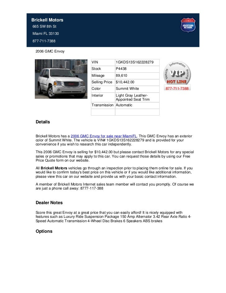 Used_2006_GMC_Envoy_For_Sale_In_Miami_FL_-_Stock_P4438