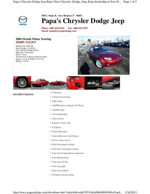 Used 2006 Mazda Miata Touring convertible