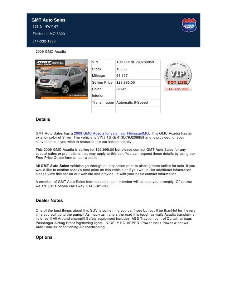 Used_2009_GMC_Acadia_For_Sale_In_Florissant_MO_-_Stock_16866