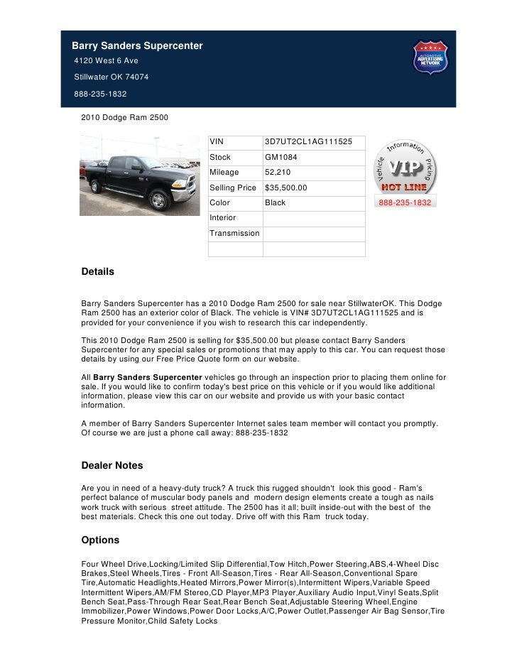 Used_2010_Dodge_Ram_2500_For_Sale_Near_Tulsa_OK_-_Stock%23_GM1084