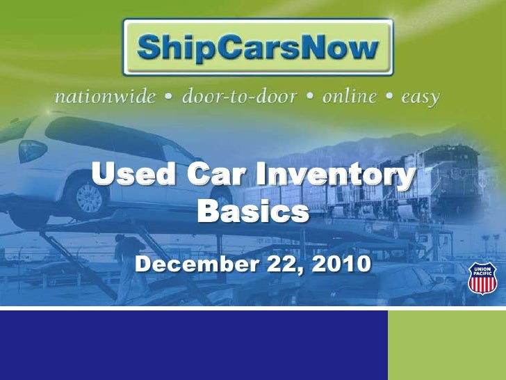 Used Car Inventory Basics