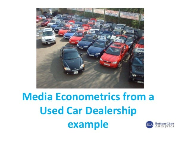 Used car Dealership   econometrics case study