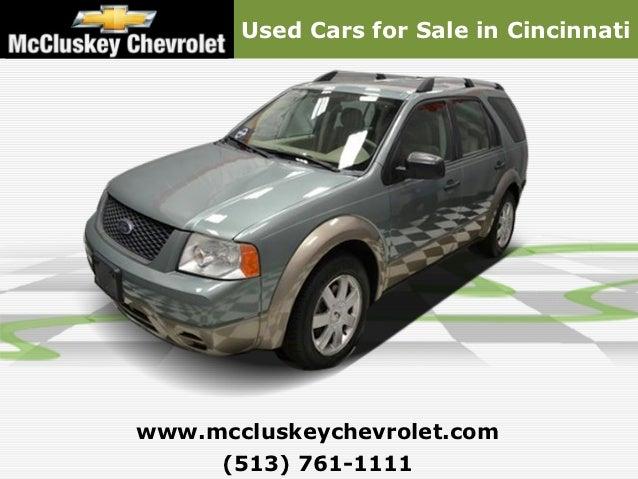 Used Cars for Sale in Cincinnatiwww.mccluskeychevrolet.com     (513) 761-1111