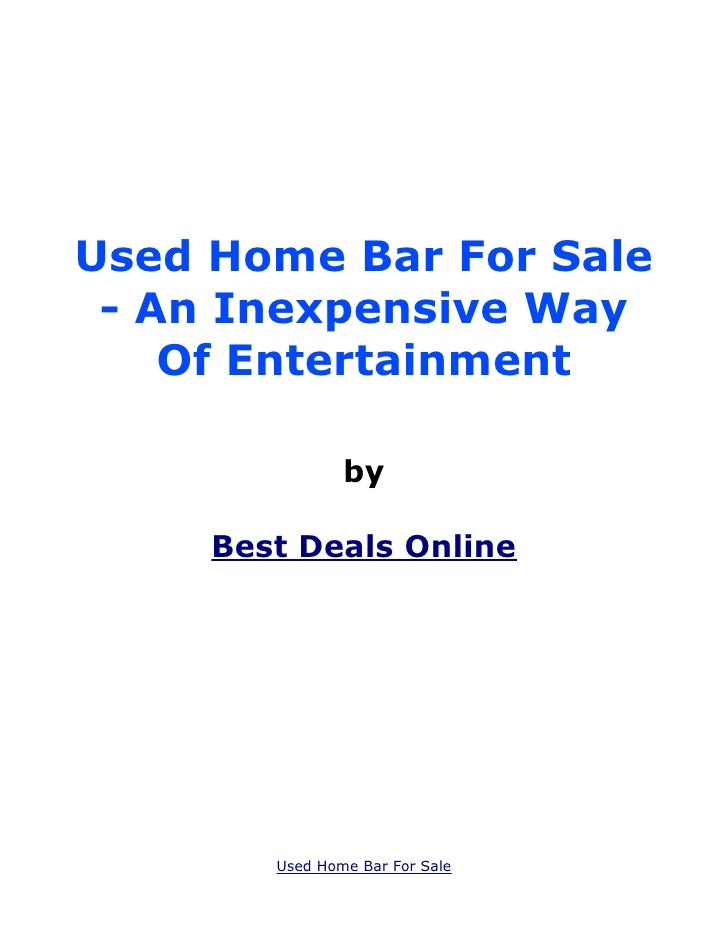 Used Home Bar For Sale