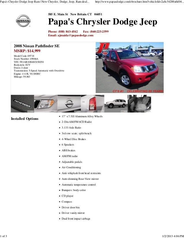 Papas Chrysler Dodge Jeep Ram | New Chrysler, Dodge, Jeep, Ram deal...            http://www.papasdodge.com/ebrochure.htm?...