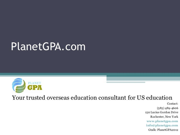 PlanetGPA.comYour trusted overseas education consultant for US education                                                  ...