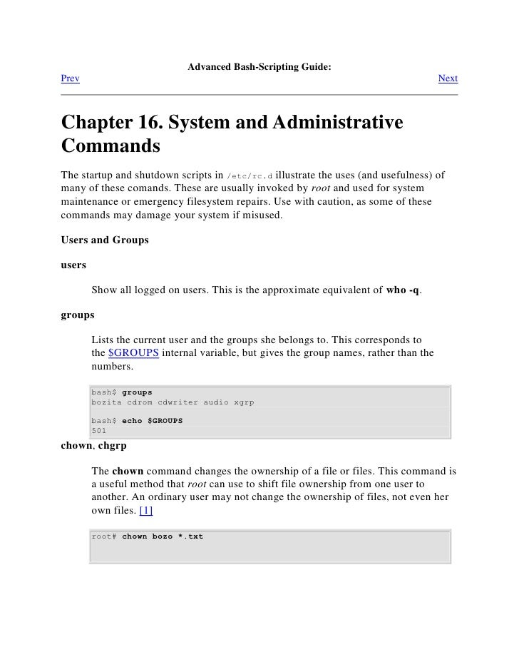 Linux system admin useful commands