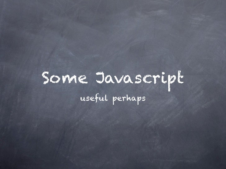 Useful javascript
