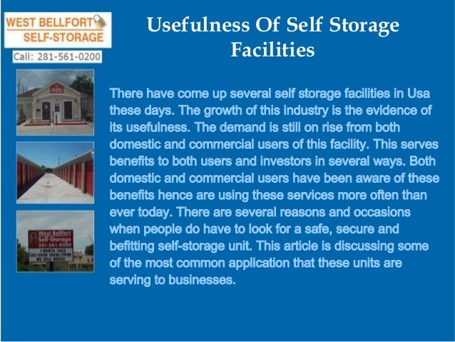 Usefulness Of Self Storage Facilities There have come up several self storage facilities in Usa these days. The growth of ...