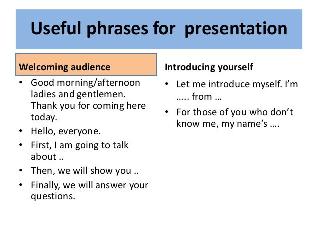 Myself presentation in english
