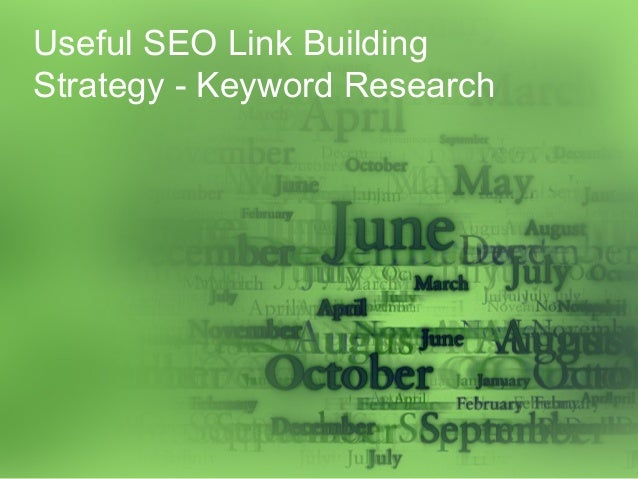 Useful SEO Link Building Strategy - Keyword Research