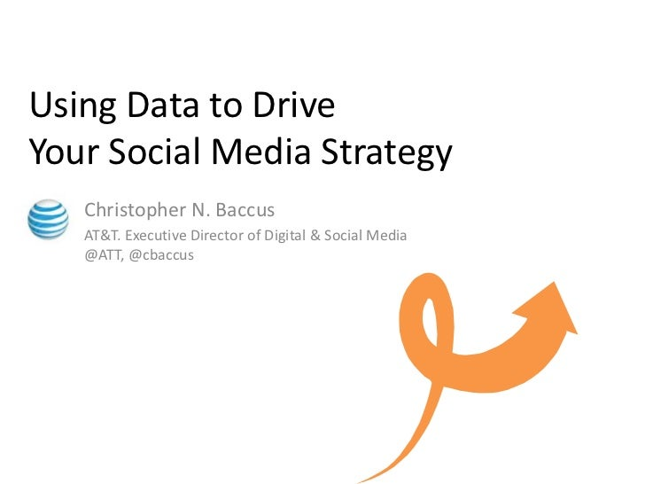 Using Data to Drive Your Social Media Strategy<br />Christopher N. Baccus<br />AT&T. Executive Director of Digital & Socia...