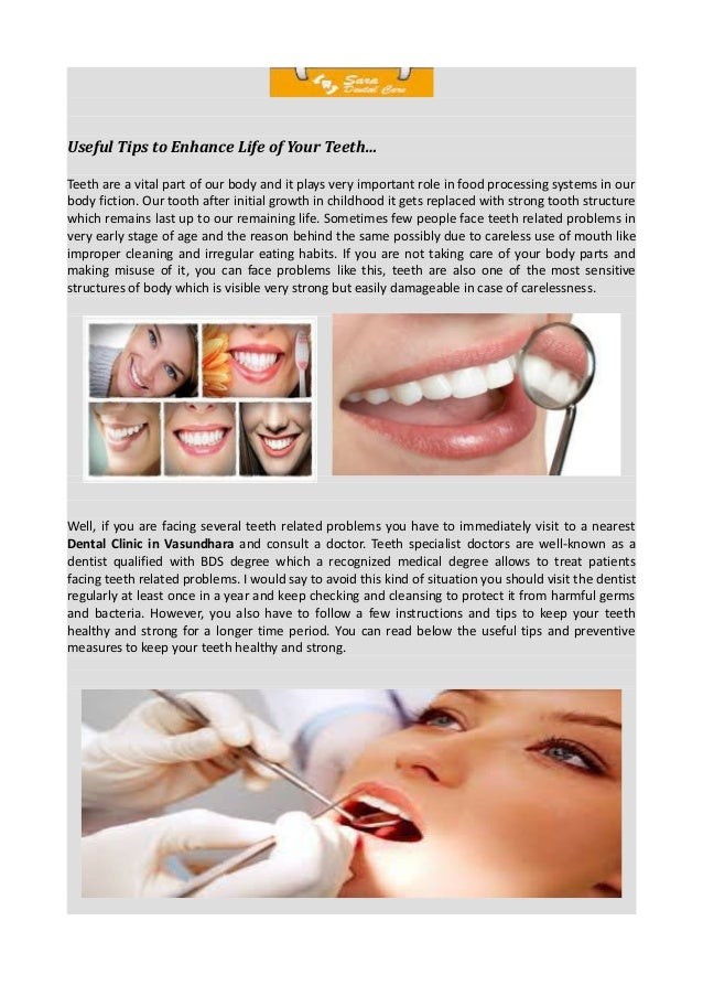 Useful tips for your teeth.