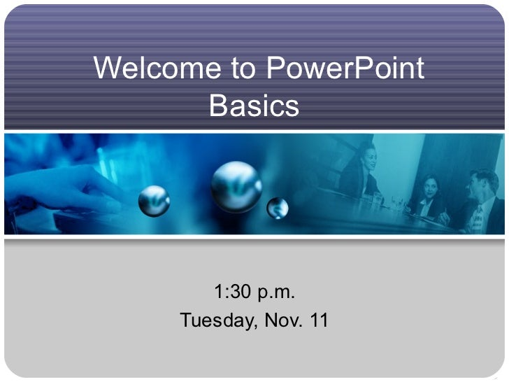 PowerPoint basics, Part I