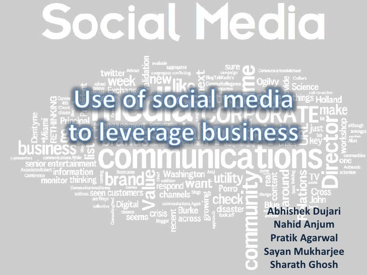 Use of social media to leverage business