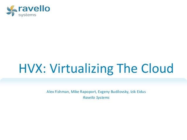 HVX: Virtualizing the Cloud