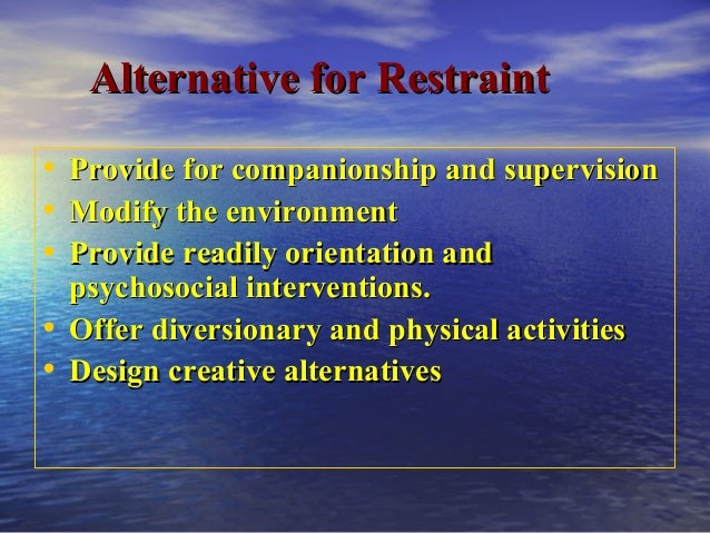 What Is A Geri Chair Used For Use of restraint