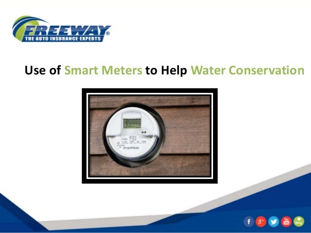 Use Of Smart Meters To Help Water Conservation