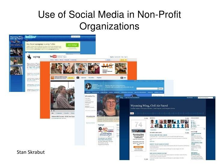 Use Of Social Media In Non Profit Organizations