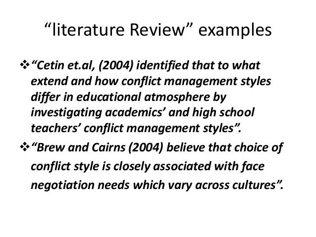 literature review management styles Running head: leadership & conflict management 1 leadership & conflict management: a review of the literature module 4: assignment 2 pamela mcclinton argosy university: w7900 dr kate noone october 1, 2014 leadership & conflict management 2 leadership & conflict management: a review of the literature.