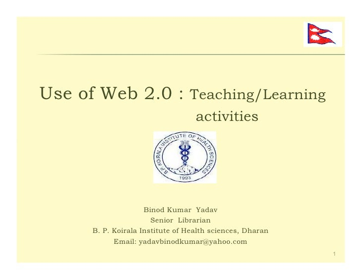 Use of web_2.0_tools_01_june_2012