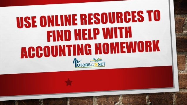 Online Help with Accounting Homework