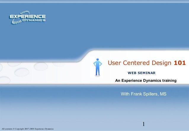 User Centered Design 101
