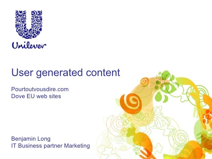 User generated content in Unilever