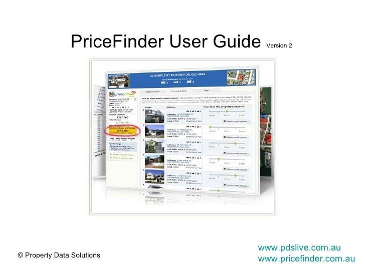 PriceFinder User Guide