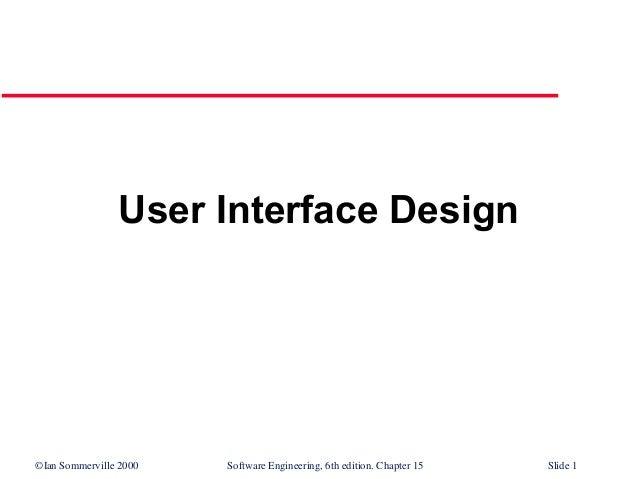 User interface-design