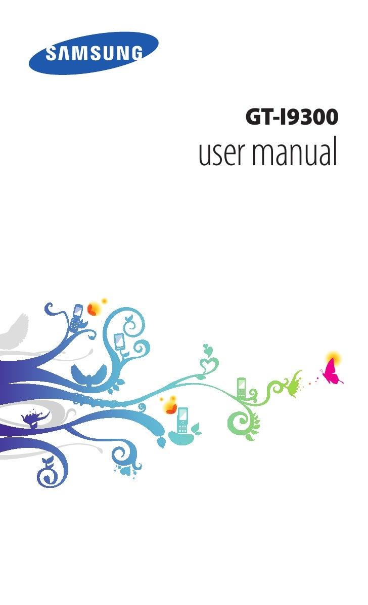 Samsung Galaxy S3 GT-I9300. Manual del Usuario