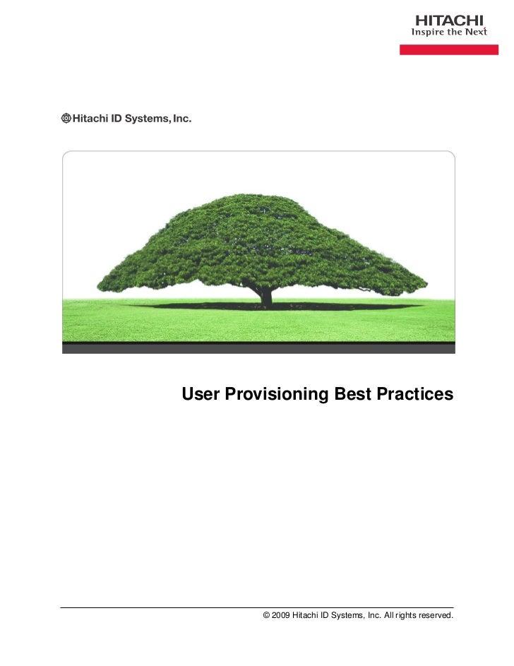 User provisioning-best-practices